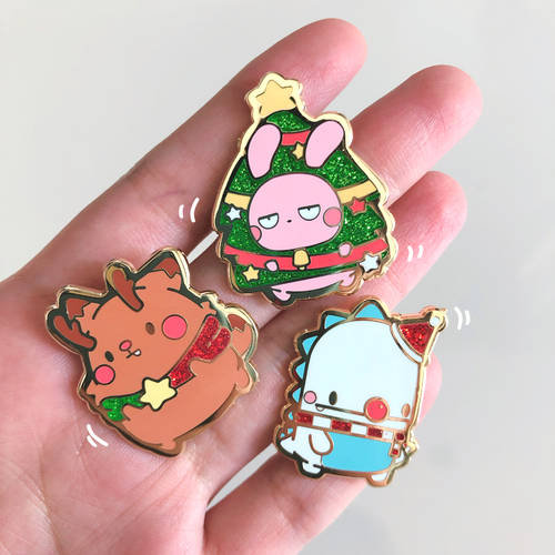 Image of Enamel Pin Christmas Set