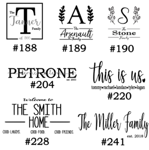 Image of Personalization Designs Collection - 12x12 Unframed Wood Sign