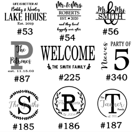 Image of Personalization Designs Collection - 12x18 Unframed Wood Sign