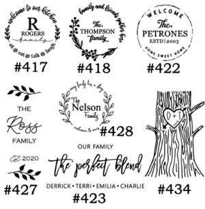 """Image of Personalization Designs Collection - 12"""" Round Wood Sign"""