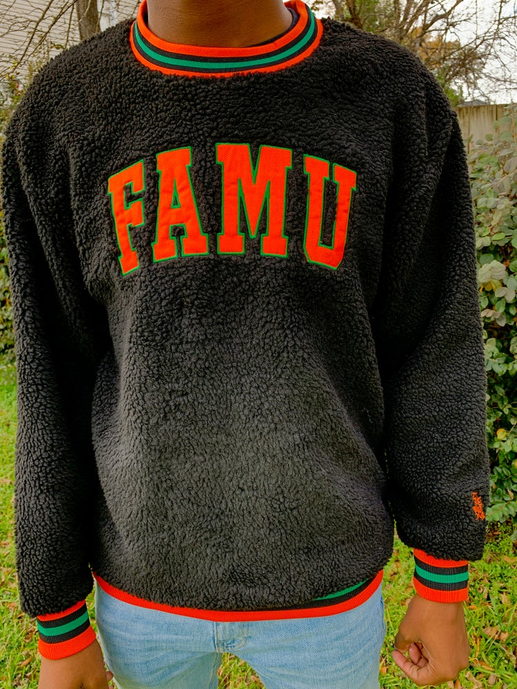 Image of FAMU Sherpa Crewneck Sweater Preorder