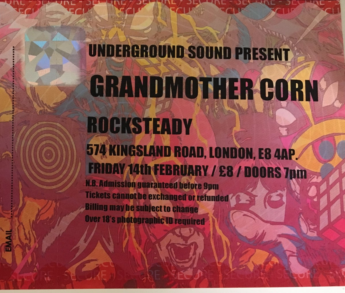Image of TICKETS: The Rocksteady, London 14.2.2020