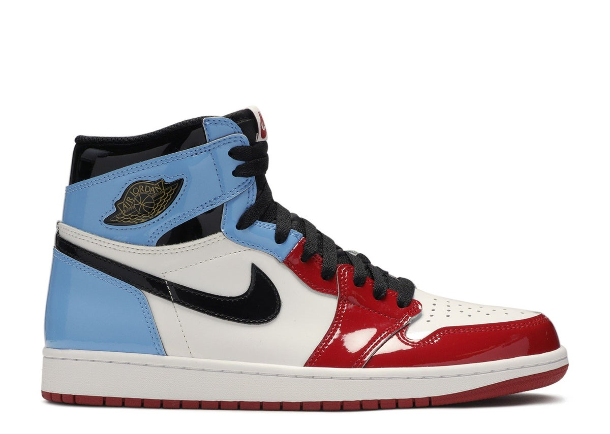 "Image of AIR JORDAN 1 HIGH OG FEARLESS ""FEARLESS"" unc to Chicago"