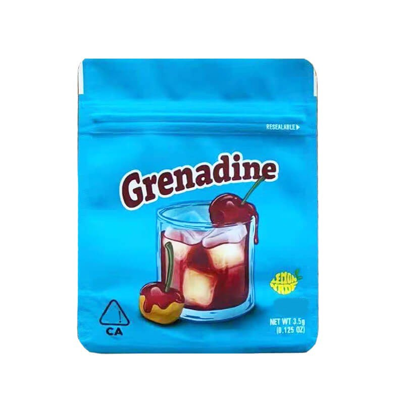 Image of Cookies Grenadine Bags Empty 3.5 to 7g Size Smell Proof Mylar Cookies Bags
