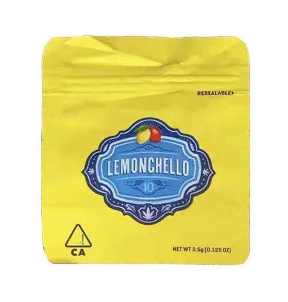 Image of Cookies Lemonchello Bags Empty 3.5 to 7g Size Smell Proof Mylar Cookies Bags