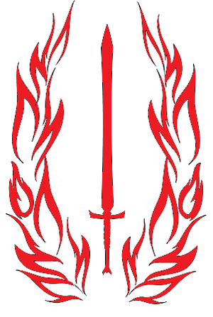 Image of Sword and Wings Mercenary Symbol Vinyl Sticker