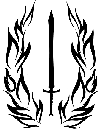 Image of Sword and Wings Mercenary Symbol Vinyl Sticker
