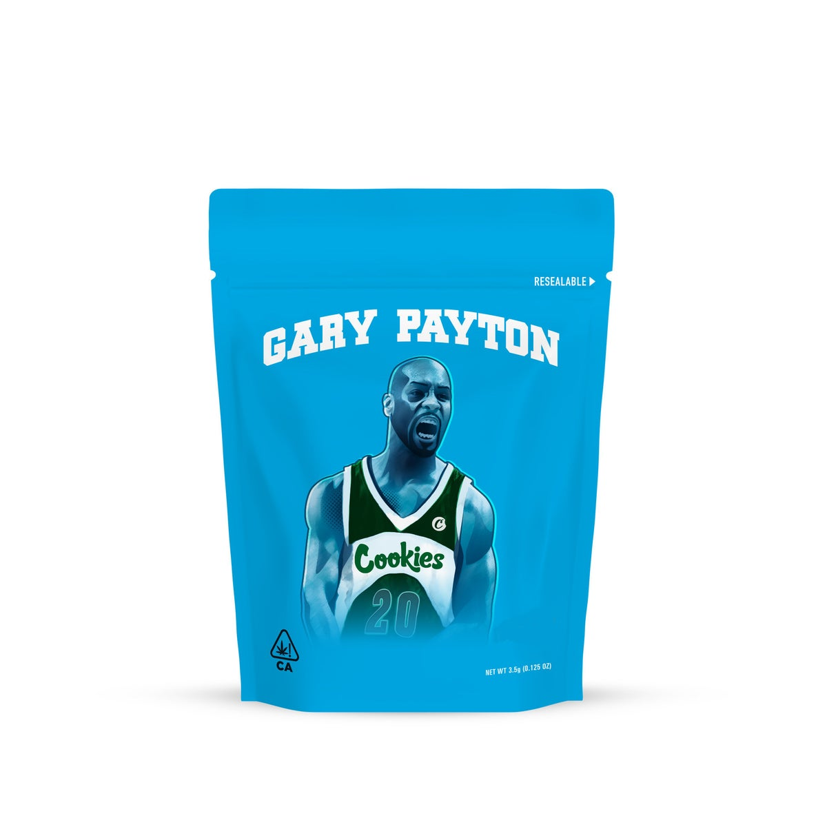Image of Gary Payton Cookies Bags Empty 3.5 to 7g Size Smell Proof Mylar Bags