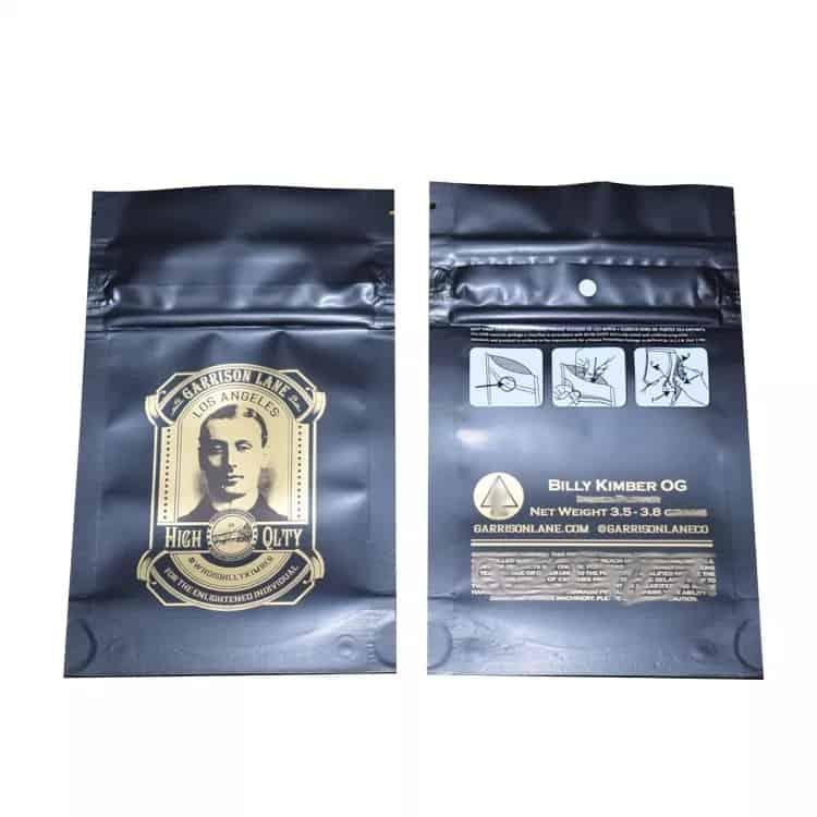 Image of Billy Kimber OG Bags Empty 3.5-7g Size Smell Proof Mylar Garrison Lane Bags
