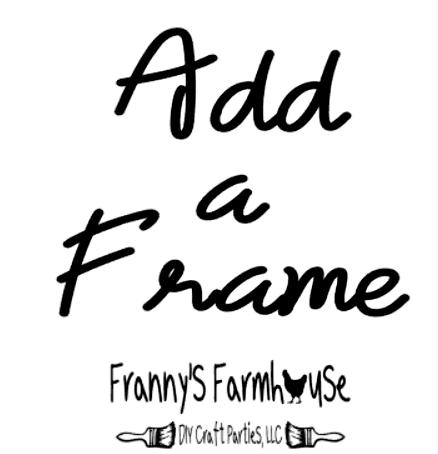Image of Add a Frame to Your Unframed Wood Sign - 12x12 or 6x24