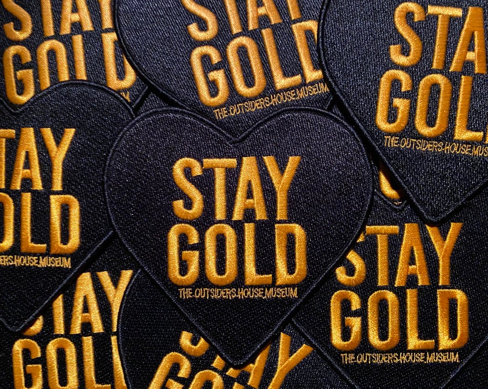 "Image of The Outsiders House Museum ""Stay Gold"" Heart Patch."