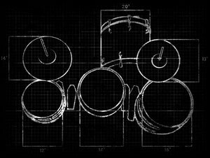 Image of  Orbinator Drum Setup Tee & Silly String Tee