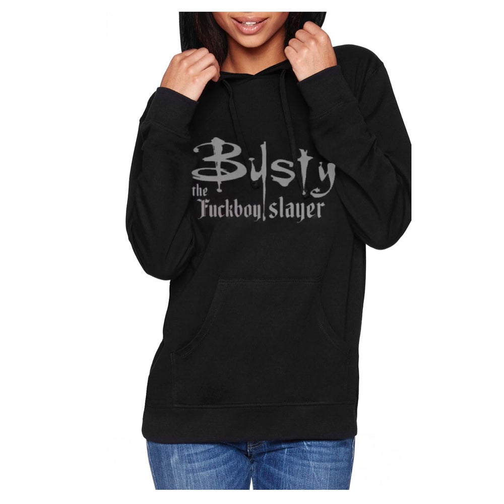 Image of Busty The Slayer Unisex Pullover Hoodie