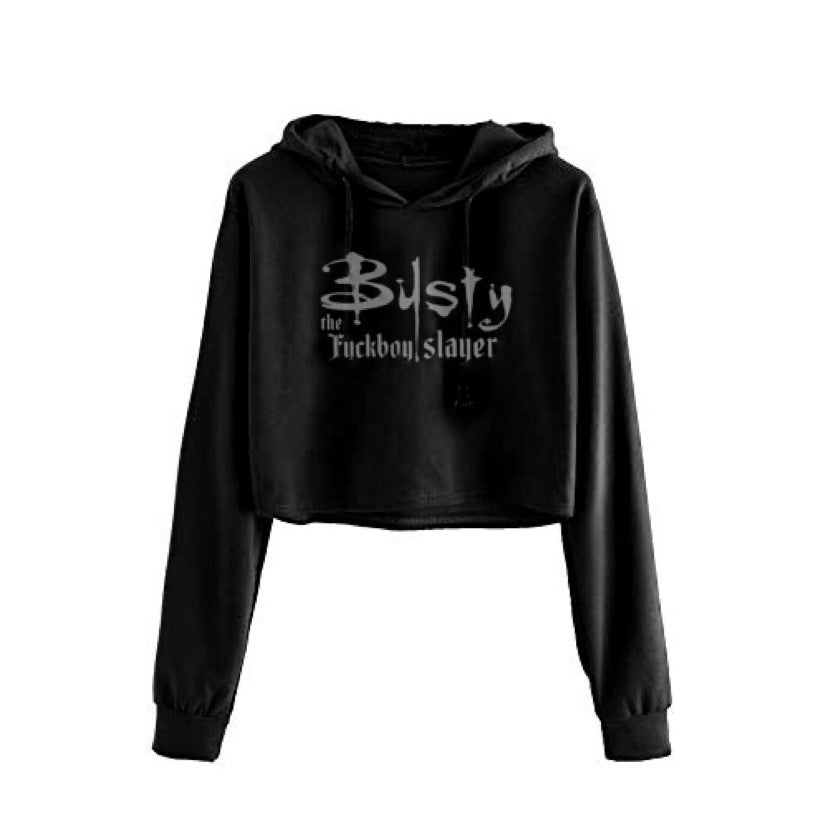 Image of Busty The Slayer Cropped Hoodie