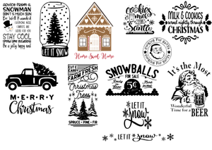 Image of Winter Designs Collection - 12x12 Unframed Wood Sign