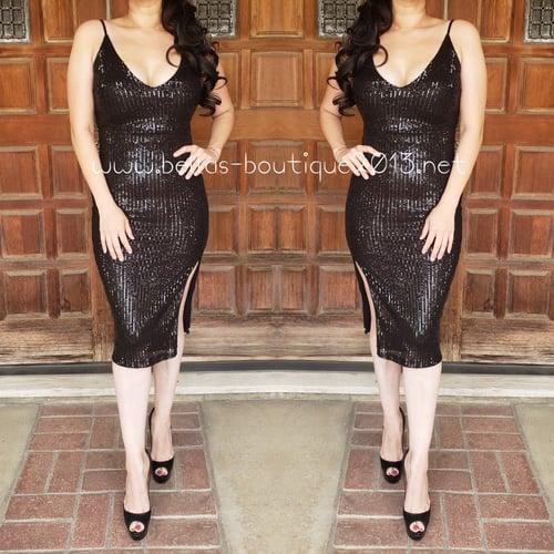Image of Crystal Sequins Dress