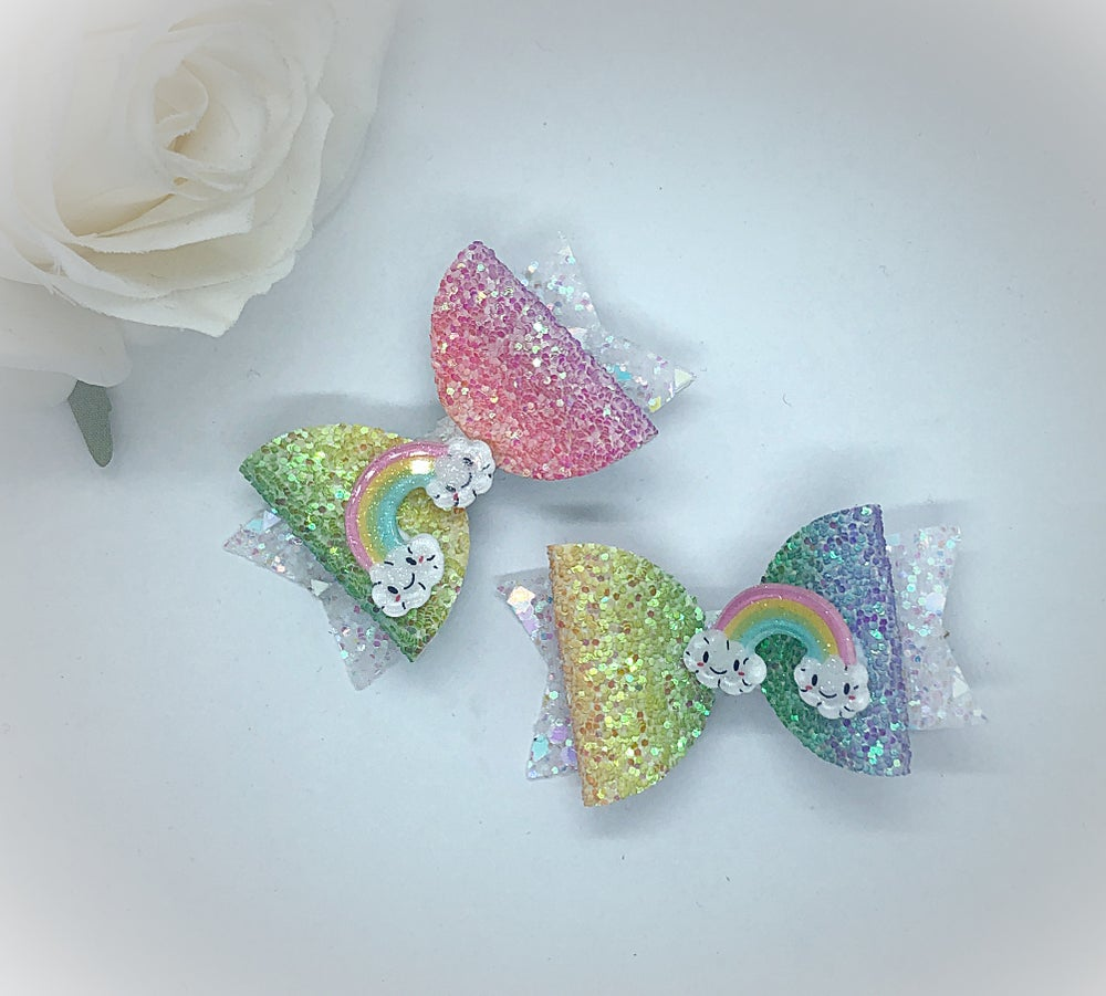 Image of Happy Rainbow pigtail set