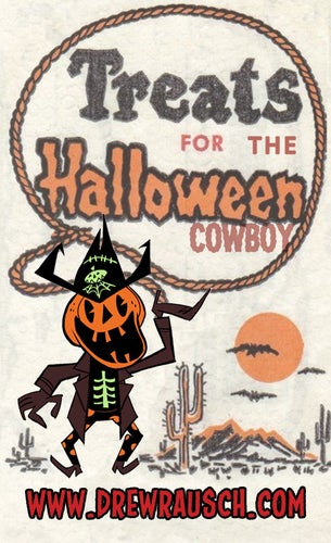 Image of The Halloween Cowboy Enamel Pin