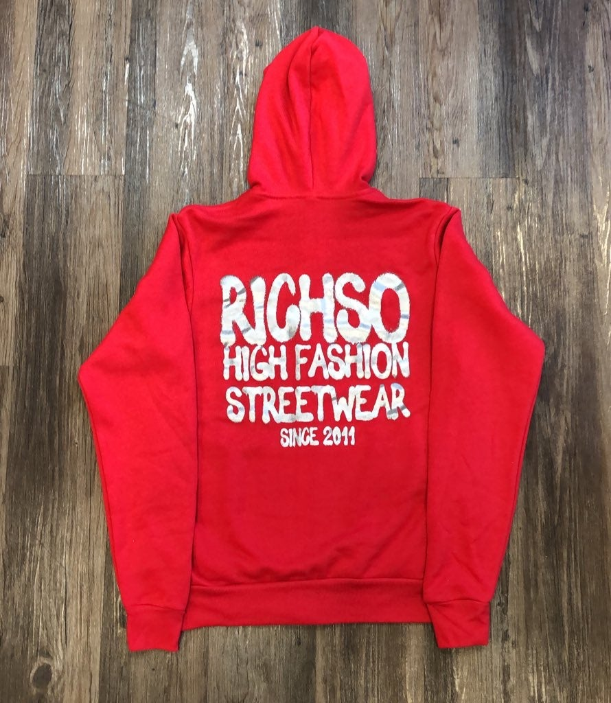Image of High Fashion Hoodie (red/silver)