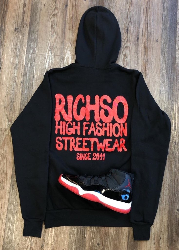 Image of High Fashion Hoodie (black/red)
