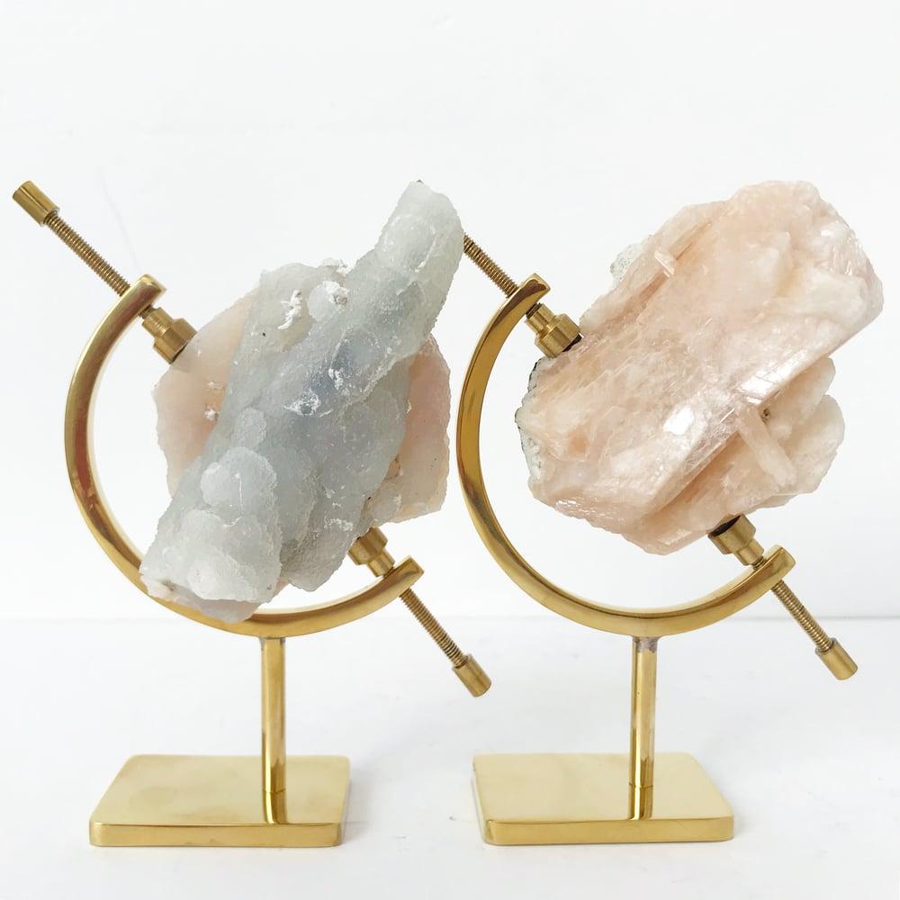 Image of Quartz no.04 Sugarplum Collection Brass Arc Pairing