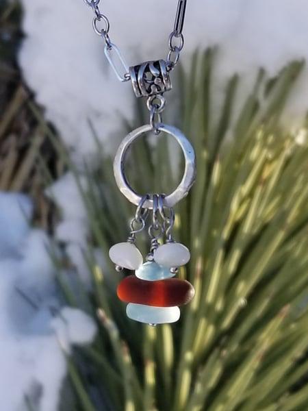Image of Sea Glass- Aquamarine- M.O.P.- Necklace- #288