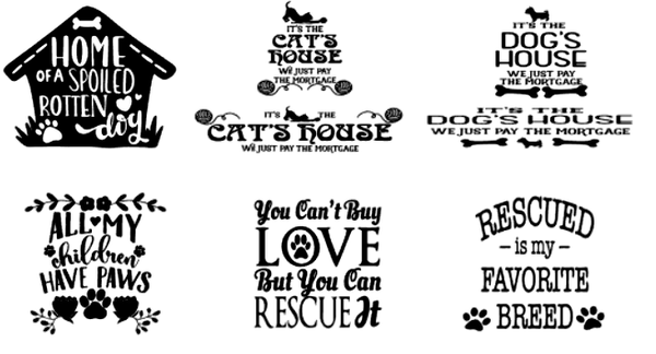 Image of Pet Lovers Designs Collection - 6x24 Unframed Wood Sign