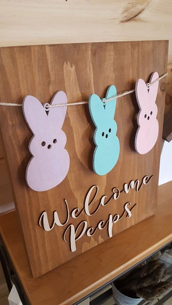 Image of Welcome Peeps 3D Sign