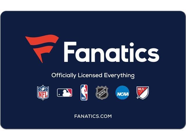 Image of Fanatics.com Value $100 Gift card