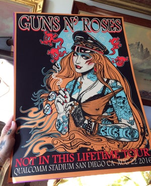 Image of Guns N Roses silkscreen poster