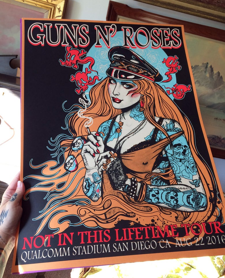 Image of Guns N Roses silkscreen poster