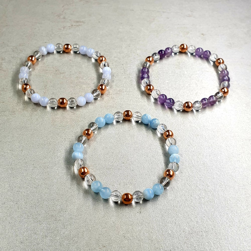 Image of AMPLIFIED HEALING BRACELETS with Clear Quartz and Copper