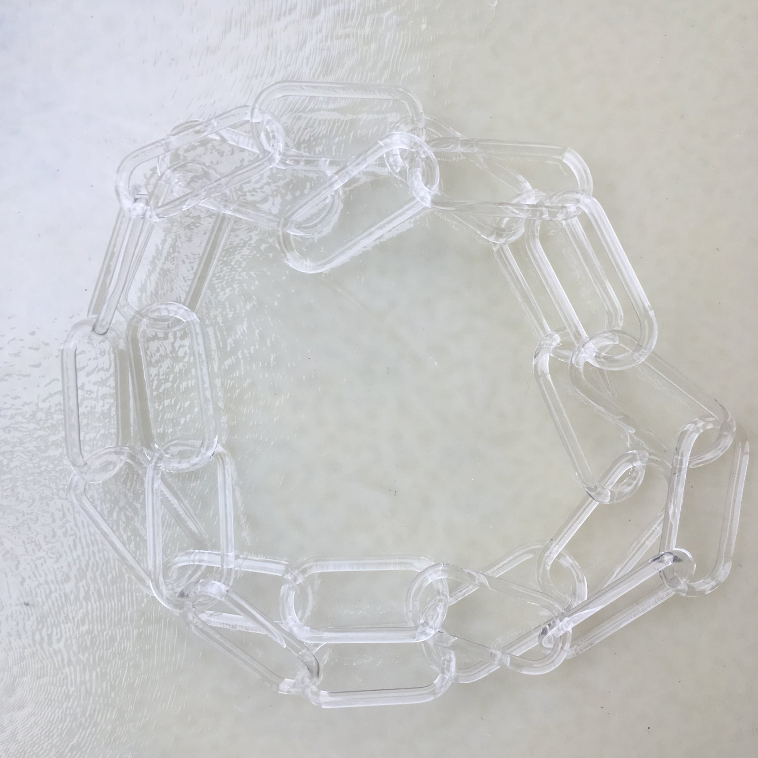 Image of crystal clear necklace