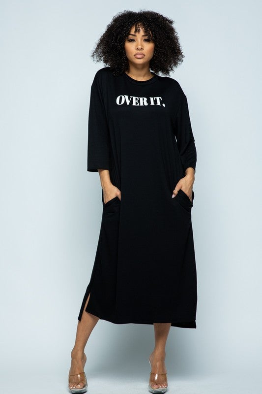 Image of Over It T Shirt Dress