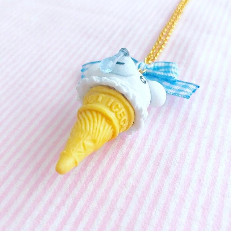 Ice Cream Cubchoo Cone Necklace