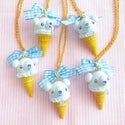 Ice Cream Cubchoo Cone Necklace