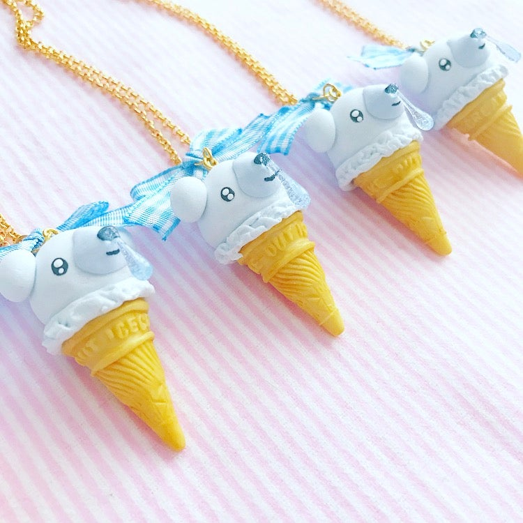 Image of Ice Cream Cubchoo Cone Necklace
