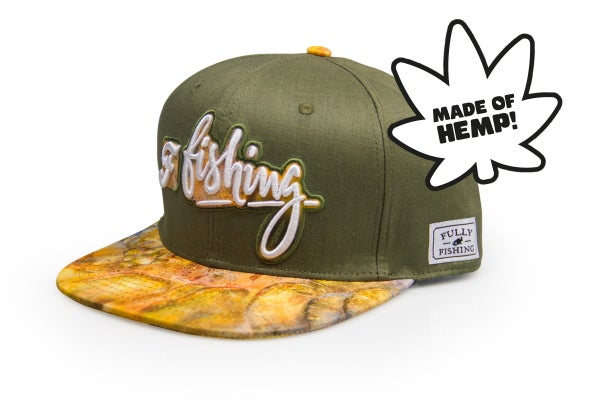 "Image of snapback ""fully fishing"" hemp"