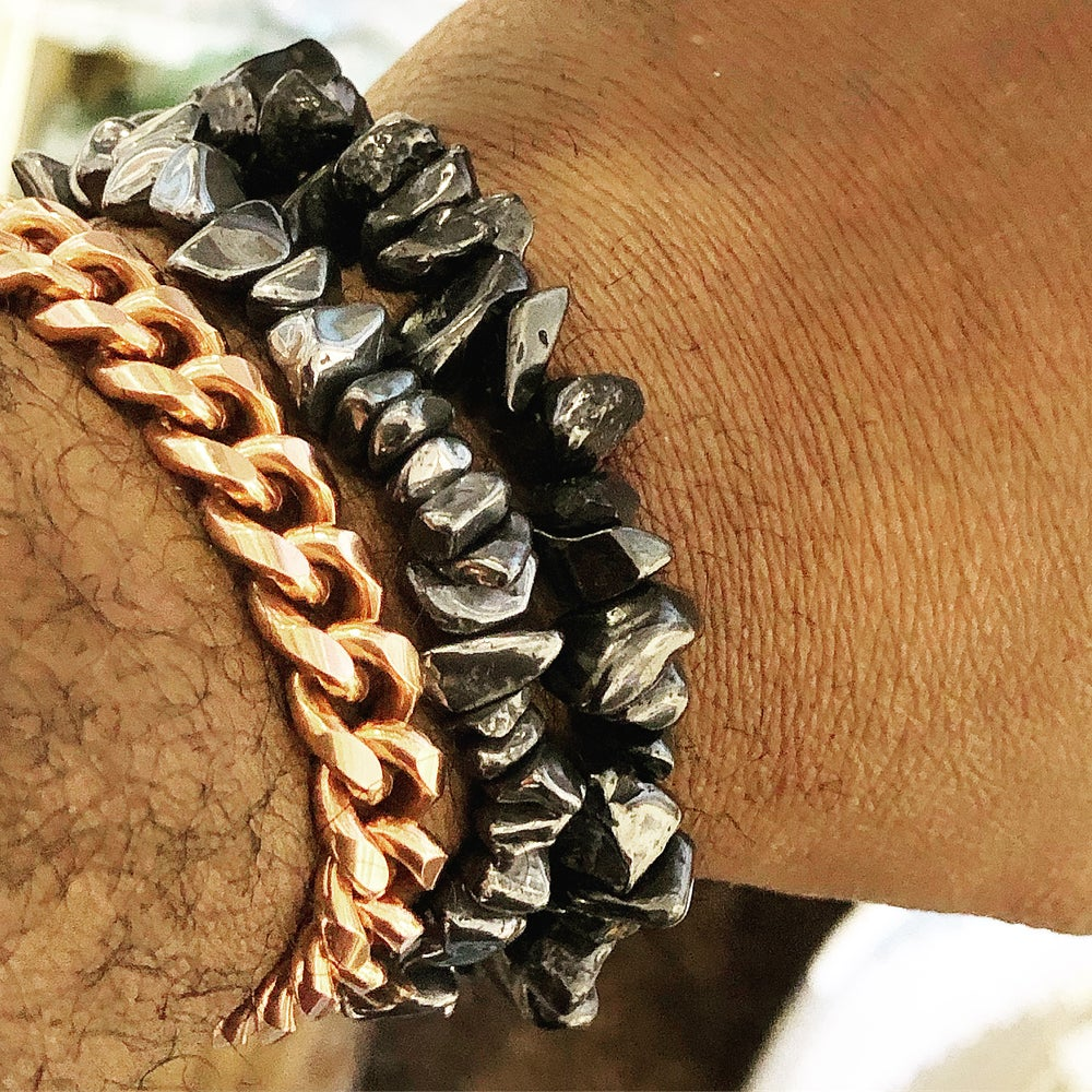Image of Hematite Chip Bracelet