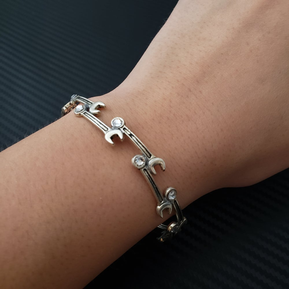 Image of Mini Wrench Bracelet with Swarovski Crystals
