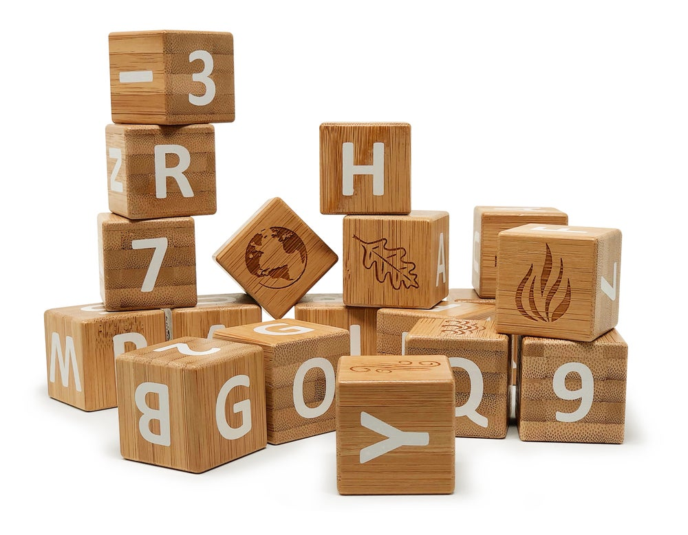 Image of Bamboo ABC Blocks, NEW!