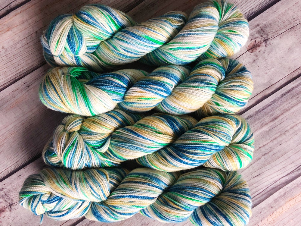 Image of Hints Of Spring Journey Sock Yarn- Sweater Quantity!