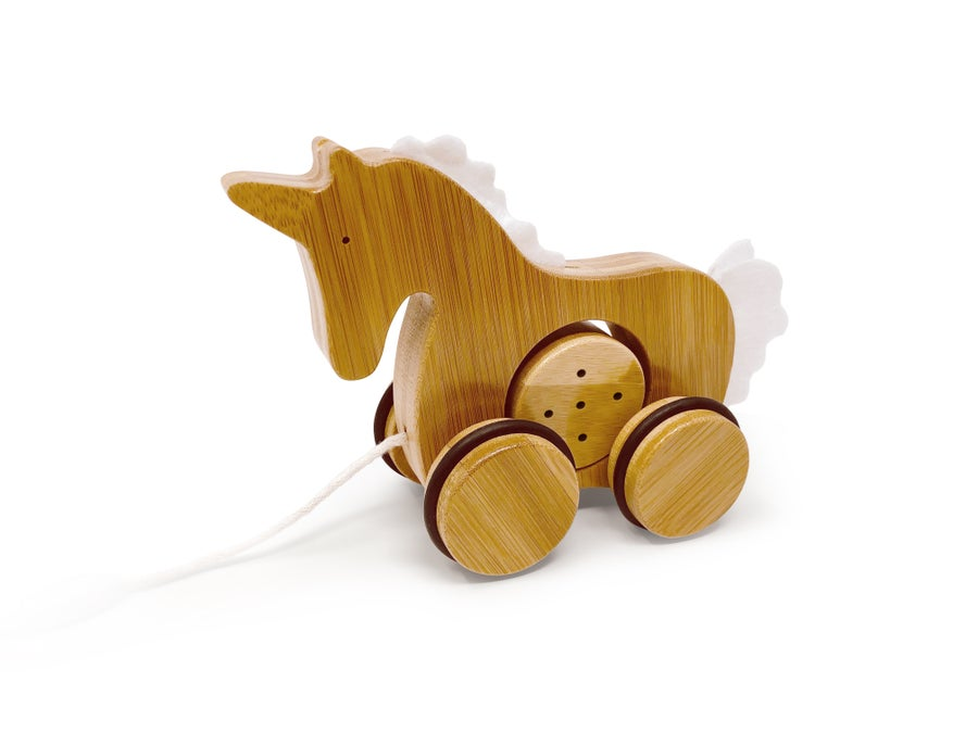 Image of Kinderfeets Bamboo Push & Pull Animal: Unicorn