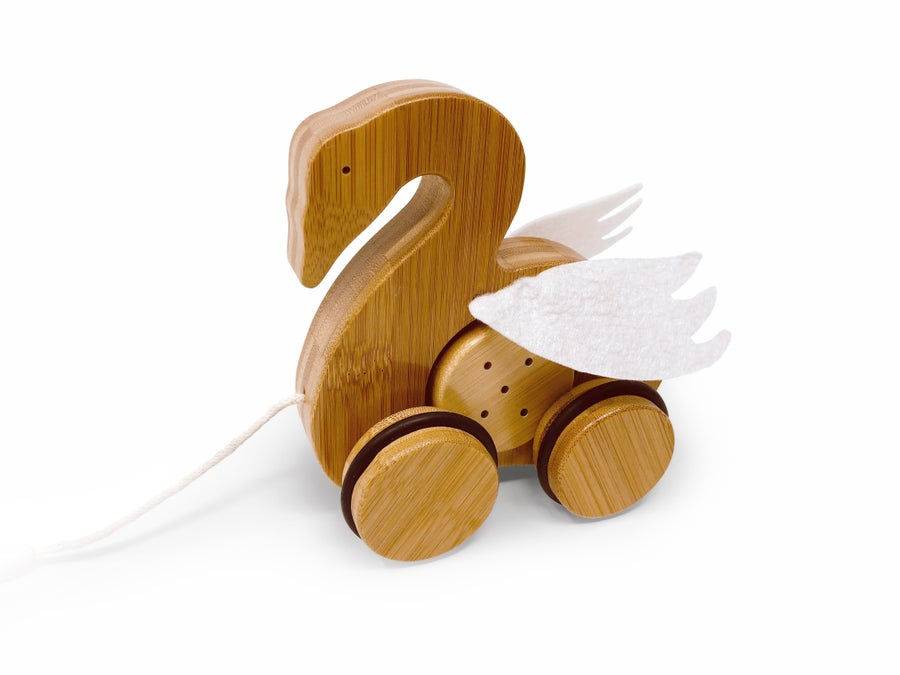 Image of Kinderfeets Bamboo Push & Pull Animal: Swan