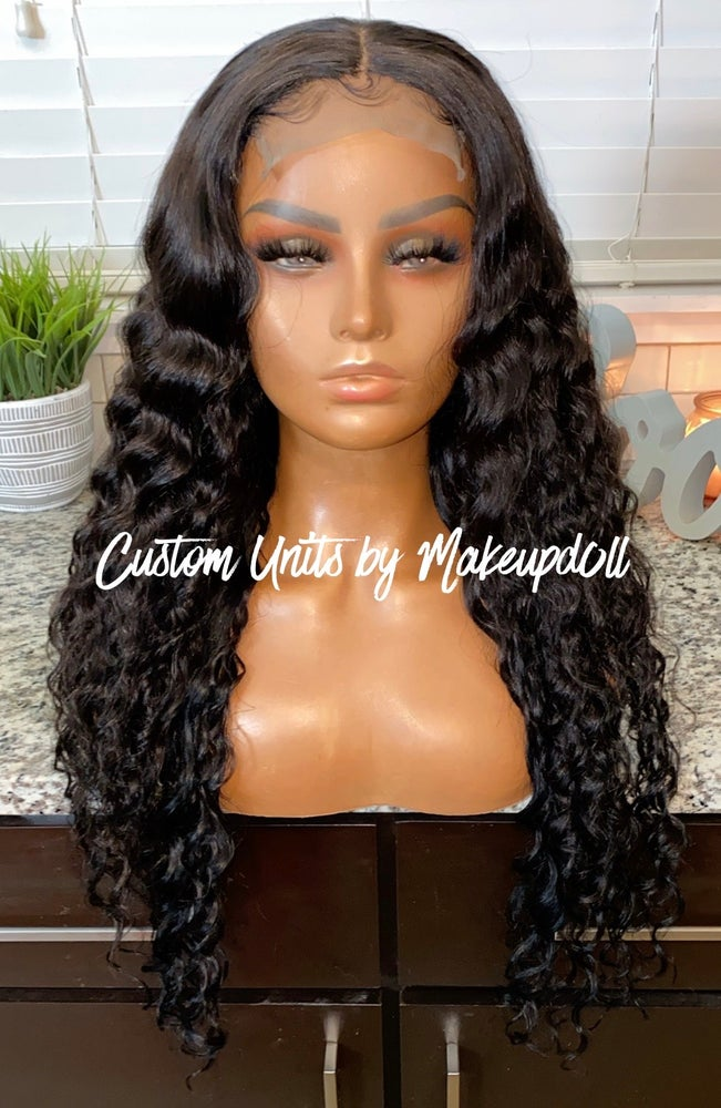 "Image of Cambodian Natural Wave 26"" Closure Wig!"
