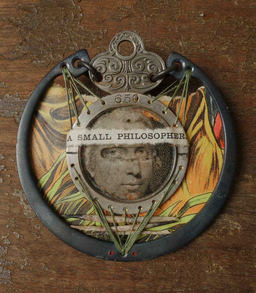 Image of Brooch: A SMALL PHILOSOPHER.