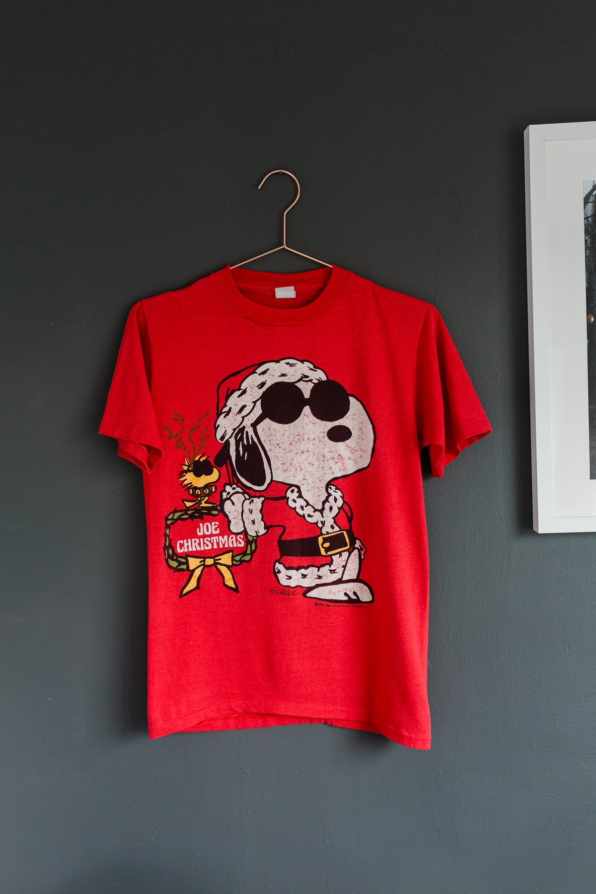 Image of 1980's Vintage Snoopy and Woodstock 'Joe Christmas' Tee
