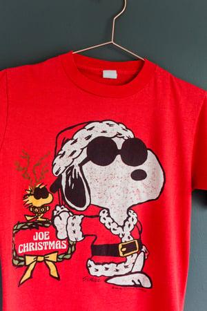 Image of 1980's Vintage Snoopy and Woodstock 'Joe Christmas' Tee