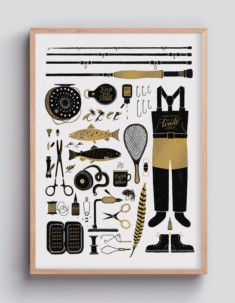 Image of Fly Fishing Items – 42×59