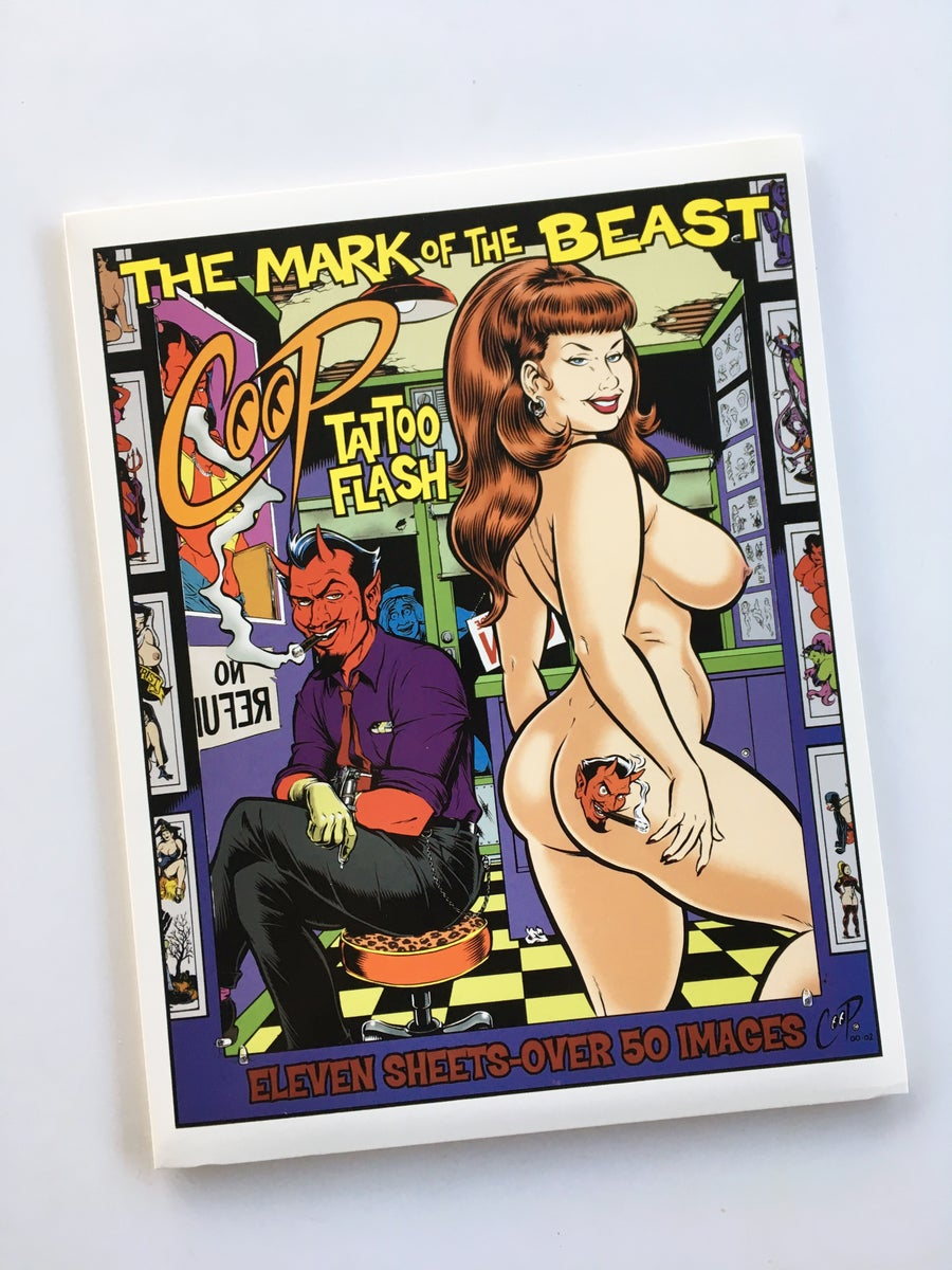 Image of MARK OF THE BEAST Tattoo Flash Set